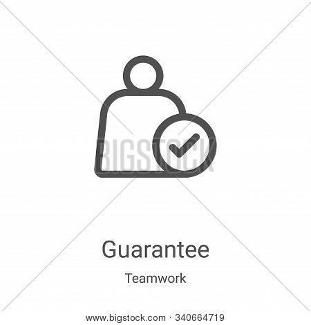 guarantee icon isolated on white background from teamwork collection. guarantee icon trendy and mode