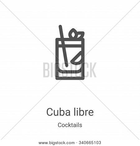 cuba libre icon isolated on white background from cocktails collection. cuba libre icon trendy and m