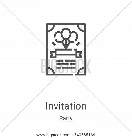 invitation icon isolated on white background from party collection. invitation icon trendy and moder
