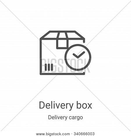 delivery box icon isolated on white background from delivery cargo collection. delivery box icon tre