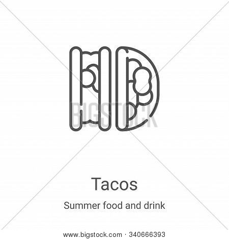 tacos icon isolated on white background from summer food and drink collection. tacos icon trendy and