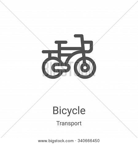 bicycle icon isolated on white background from transport collection. bicycle icon trendy and modern