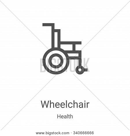 wheelchair icon isolated on white background from health collection. wheelchair icon trendy and mode