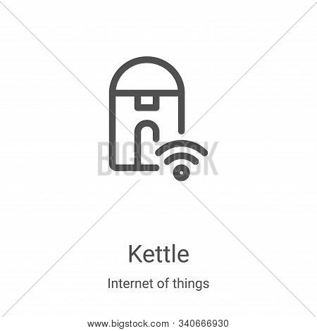 kettle icon isolated on white background from internet of things collection. kettle icon trendy and