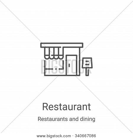 restaurant icon isolated on white background from restaurants and dining collection. restaurant icon