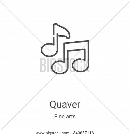 quaver icon isolated on white background from fine arts collection. quaver icon trendy and modern qu