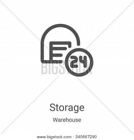 storage icon isolated on white background from warehouse collection. storage icon trendy and modern