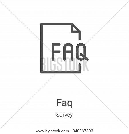 faq icon isolated on white background from survey collection. faq icon trendy and modern faq symbol