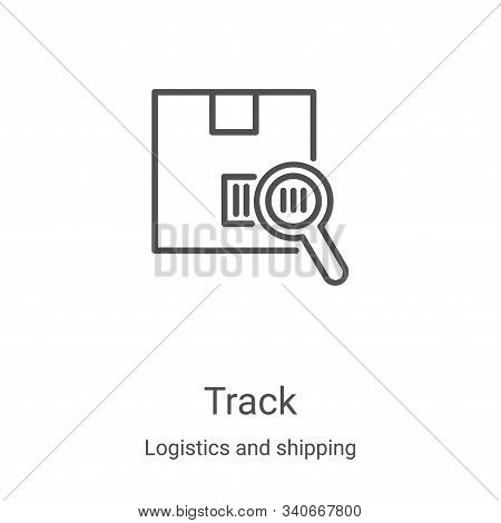 track icon isolated on white background from logistics and shipping collection. track icon trendy an