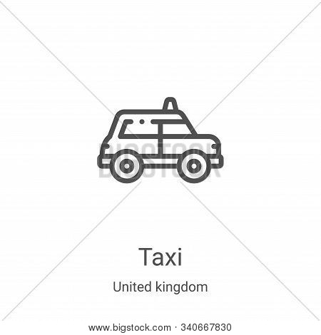 taxi icon isolated on white background from united kingdom collection. taxi icon trendy and modern t