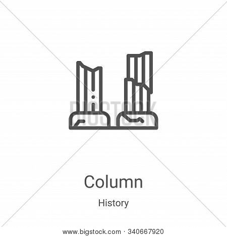 column icon isolated on white background from history collection. column icon trendy and modern colu