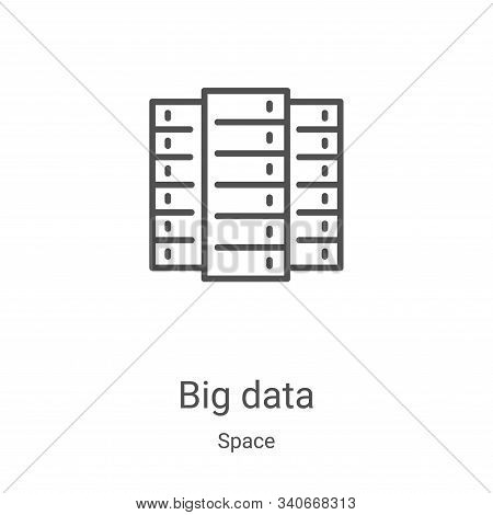 big data icon isolated on white background from space collection. big data icon trendy and modern bi