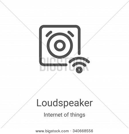 loudspeaker icon isolated on white background from internet of things collection. loudspeaker icon t