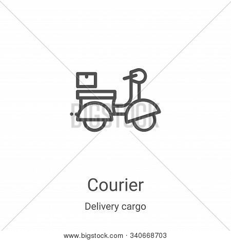 courier icon isolated on white background from delivery cargo collection. courier icon trendy and mo