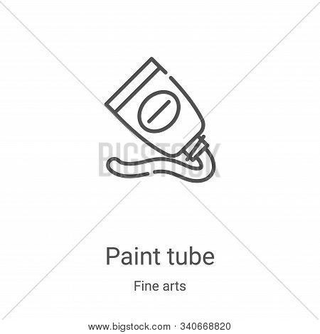 Paint tube icon isolated on white background from fine arts collection. Paint tube icon trendy and m