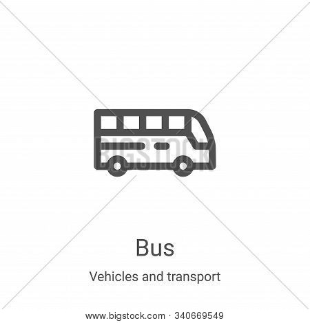 bus icon isolated on white background from vehicles and transport collection. bus icon trendy and mo