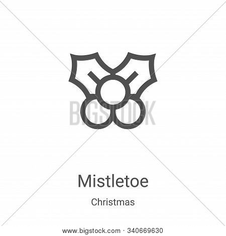 mistletoe icon isolated on white background from christmas collection. mistletoe icon trendy and mod