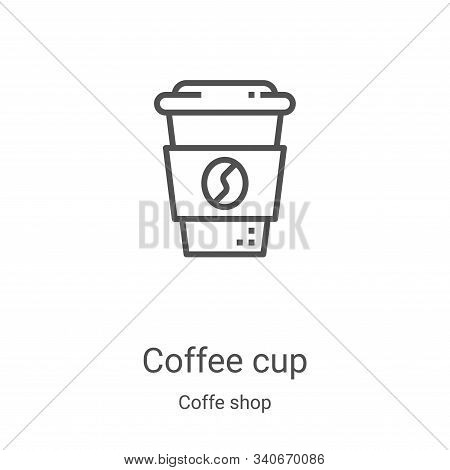 coffee cup icon isolated on white background from coffe shop collection. coffee cup icon trendy and
