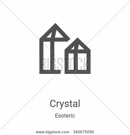 crystal icon isolated on white background from esoteric collection. crystal icon trendy and modern c