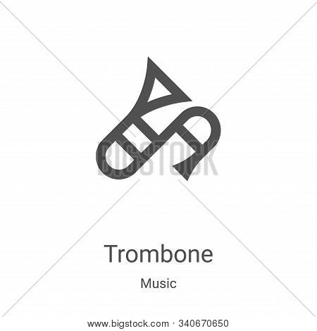 trombone icon isolated on white background from music collection. trombone icon trendy and modern tr