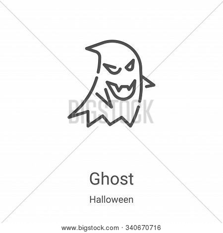 ghost icon isolated on white background from halloween collection. ghost icon trendy and modern ghos