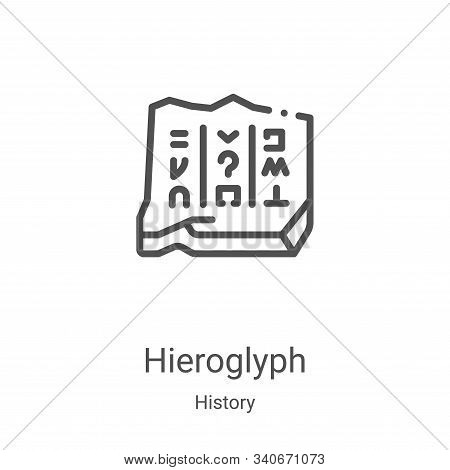 Hieroglyph icon isolated on white background from history collection. Hieroglyph icon trendy and mod