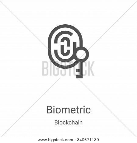 biometric icon isolated on white background from blockchain collection. biometric icon trendy and mo