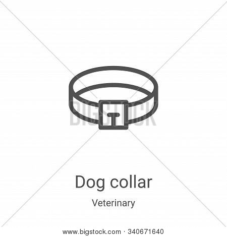 dog collar icon isolated on white background from veterinary collection. dog collar icon trendy and