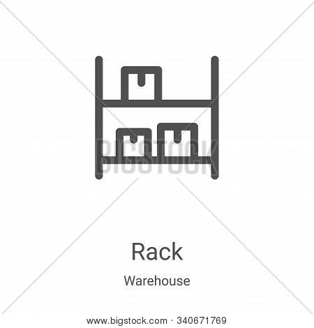 rack icon isolated on white background from warehouse collection. rack icon trendy and modern rack s
