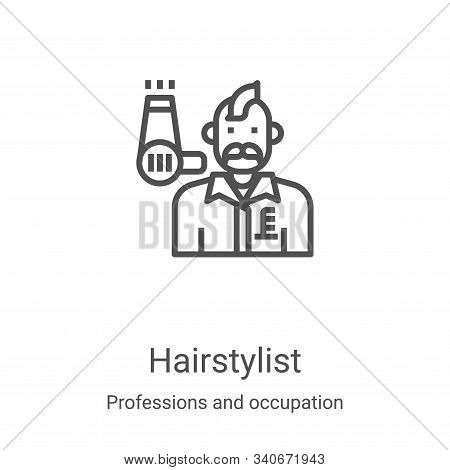 hairstylist icon isolated on white background from professions and occupation collection. hairstylis