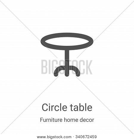 circle table icon isolated on white background from furniture home decor collection. circle table ic