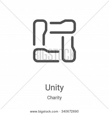 unity icon isolated on white background from charity collection. unity icon trendy and modern unity