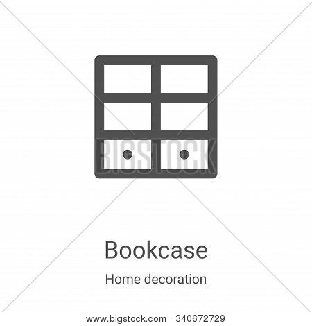 bookcase icon isolated on white background from home decoration collection. bookcase icon trendy and