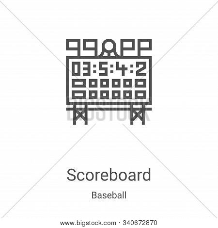 scoreboard icon isolated on white background from baseball collection. scoreboard icon trendy and mo