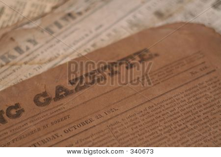 authentic newspapers from the 1800's poster