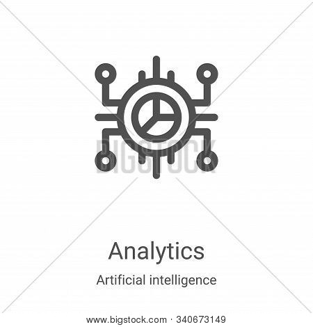 analytics icon isolated on white background from artificial intelligence collection. analytics icon