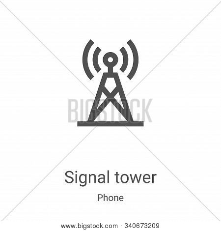 signal tower icon isolated on white background from phone collection. signal tower icon trendy and m