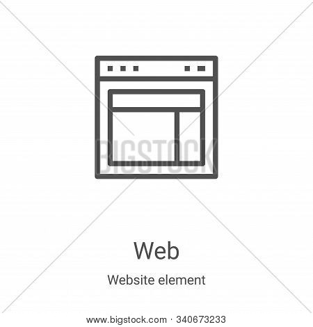 web icon isolated on white background from website element collection. web icon trendy and modern we