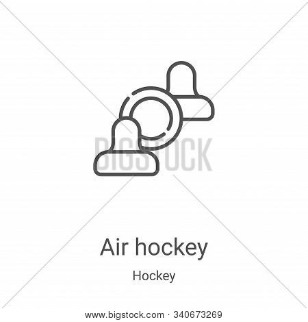 air hockey icon isolated on white background from hockey collection. air hockey icon trendy and mode