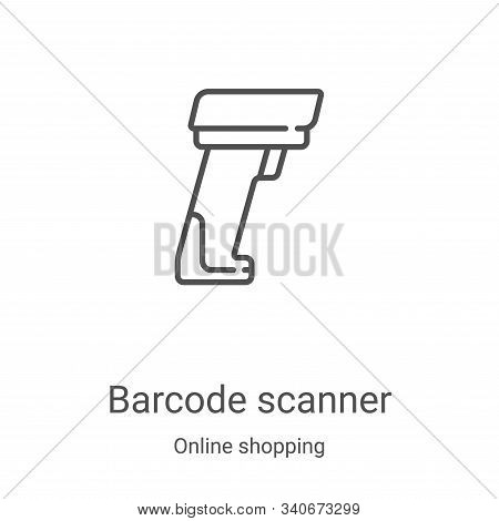 barcode scanner icon isolated on white background from online shopping collection. barcode scanner i