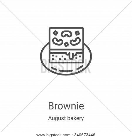 brownie icon isolated on white background from august bakery collection. brownie icon trendy and mod