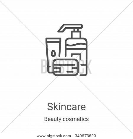 skincare icon isolated on white background from beauty cosmetics collection. skincare icon trendy an