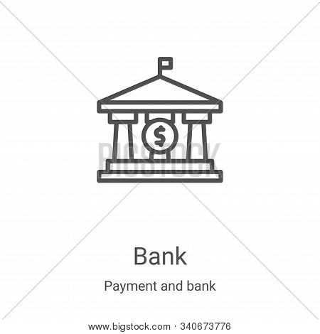 bank icon isolated on white background from payment and bank collection. bank icon trendy and modern