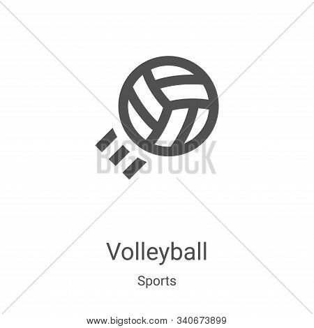 volleyball icon isolated on white background from sports collection. volleyball icon trendy and mode