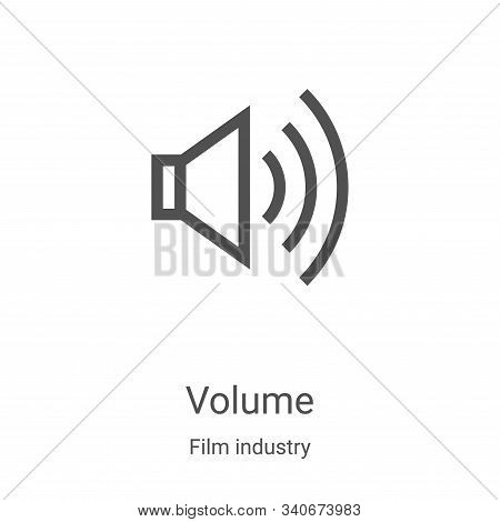 volume icon isolated on white background from film industry collection. volume icon trendy and moder