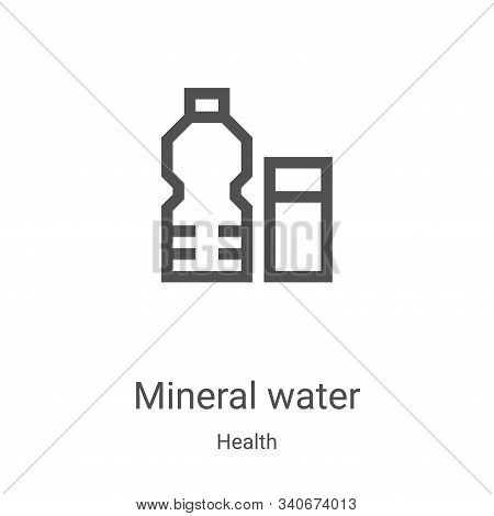 mineral water icon isolated on white background from health collection. mineral water icon trendy an