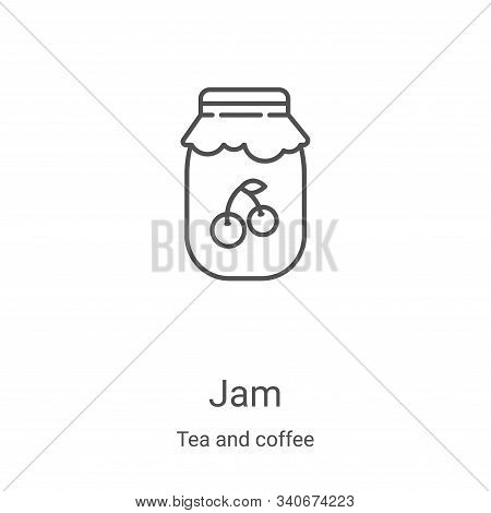 jam icon isolated on white background from tea and coffee collection. jam icon trendy and modern jam