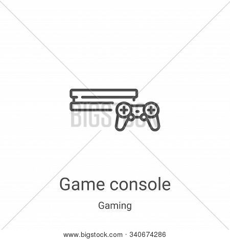 game console icon isolated on white background from gaming collection. game console icon trendy and