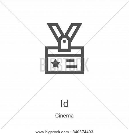 ID icon isolated on white background from cinema collection. ID icon trendy and modern ID symbol for