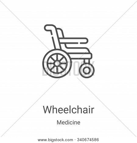wheelchair icon isolated on white background from medicine collection. wheelchair icon trendy and mo